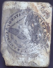 Morgan Dollar reverse on stone
