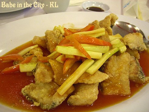 Sweet and Sour Fish Fillet (RM21)