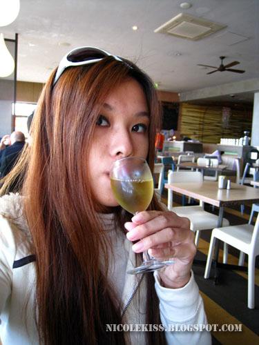 drinking dessert wine
