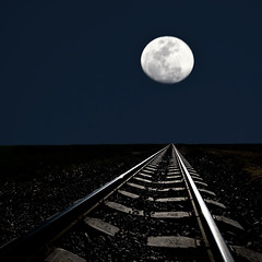 Train to the moon (risquillo) Tags: sky moon art nature night train nikon d2x dream hugskisses risquillo youarewonderfulphotographer littlestoriespicswithsoul