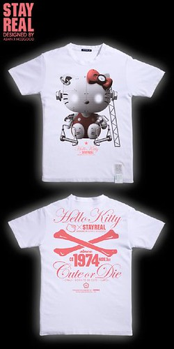 stay real KITTY T-shirt (white)