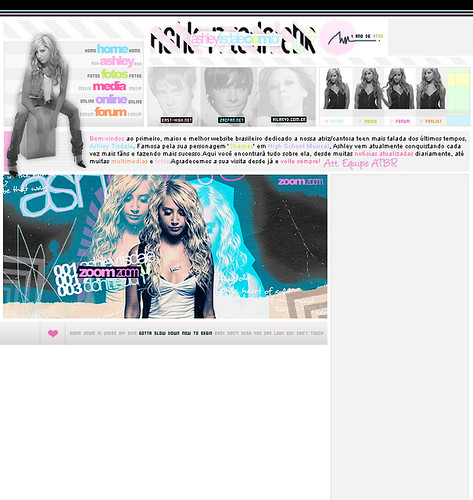 Layout 2.0 Ashelytisdale.com.br by Caio T..