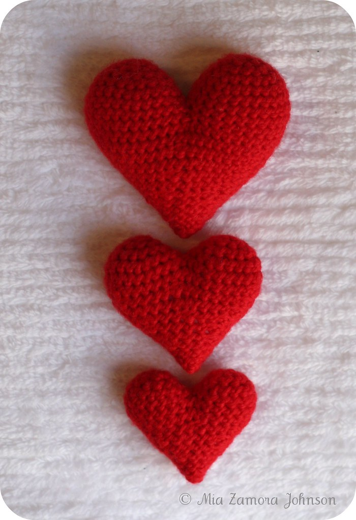 Crochet A Heart : ... it is :) A very quick and easy amigurumi heart, crocheted in 3 sizes