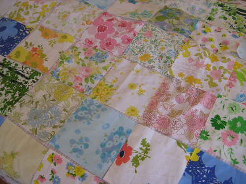 How to Make a Vintage Sheet Quilt - 1