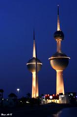 Kuwait Towers (Nouf Alkhamees) Tags: tower night canon shot towers kuwait alk nono nof alkuwait    nouf