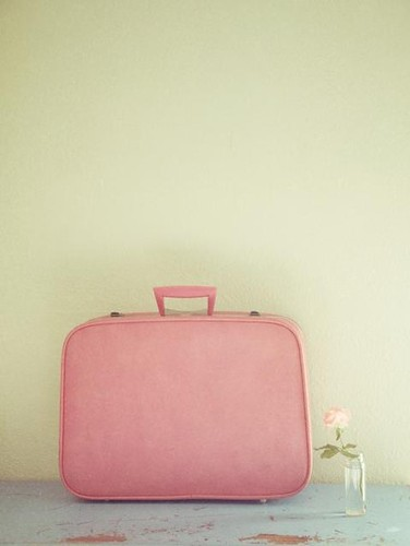 pink suitcase photograph
