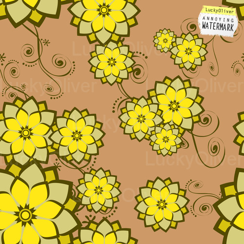 Seamless Wallpaper Tile Flower Design