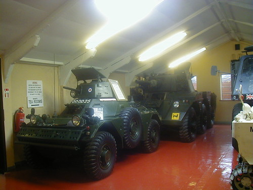 Ferret Mk5 and a Saladin Armoured Car