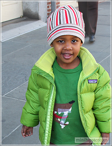 Aint that easy being green... Mini Hipster - kids street fashion trends