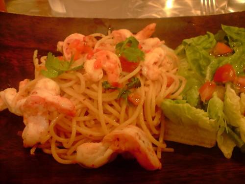 Garlic Prawn Pasta at Food For Thought