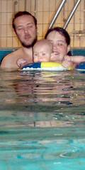 Oskar Josi och G i vatten
