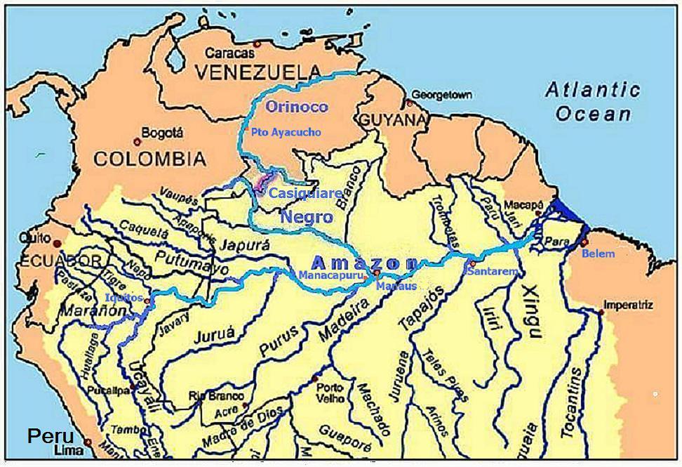 orinoco river mapOrinoco River Map