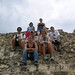 Students resting during climb - Mexico Study Abroad