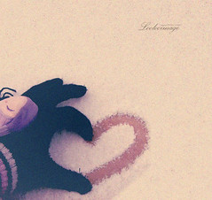You complete me. (ShanLuPhoto) Tags: winter snow love heart gloves  youcompleteme