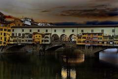 PONTE VECHIO (Mannyrdz) Tags: nightphotography bridge sunset italy florence tuscany otw pontevechio mycameraneverlies flickrclassique