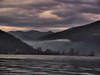 The Gray Danube (AragianMarko) Tags: mist nature sepia river landscape europe autum serbia romania toamna danube srbija banat sonydscf828 grayclouds dunav photomatix dunarea landshaft carasseverin defileuldunarii