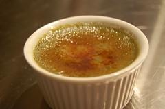 Matcha-lime creme brulee
