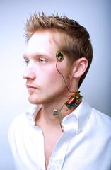 Robo McQueen (alanna jean) Tags: light boy portrait white man shirt studio robot high wire key kanye mqueen