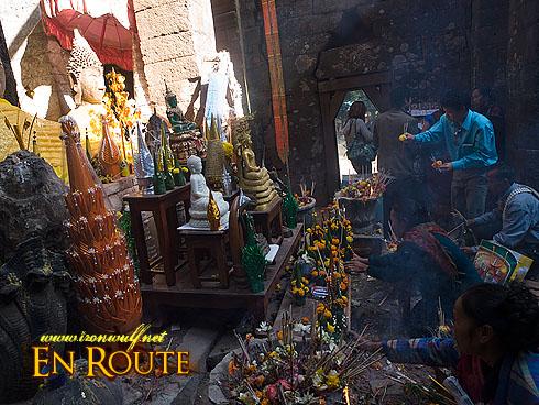 Wat Phu Champasak Festival Altar