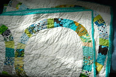 single girl quilt (wise craft, handmade by Blair Stocker) Tags: denyseschmidt itsbeenahellofaweek singlegirlquilt ifinisheditthisweek itwasagoodweektofinishaquilt