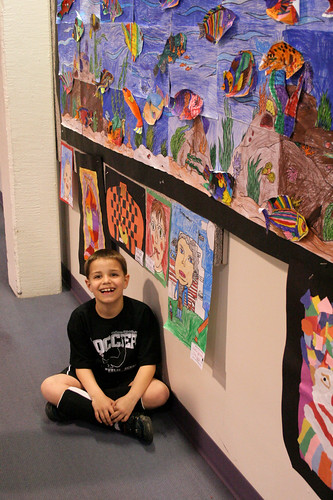 Jack with his artwork