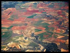 Farm fields south of Madrid (LTCE) Tags: nature landscape fly spain aviation air flight aerialview natura espana andalusia aviazione spagna aerials vistaaerea aviacion volare volar distanza