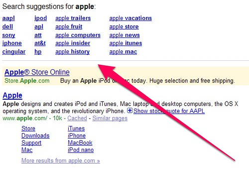 Show Search Suggestions Example