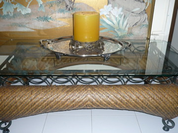 Rattan Coffee Table $300