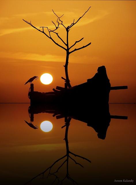 Sunset at Calicut .In 100 6