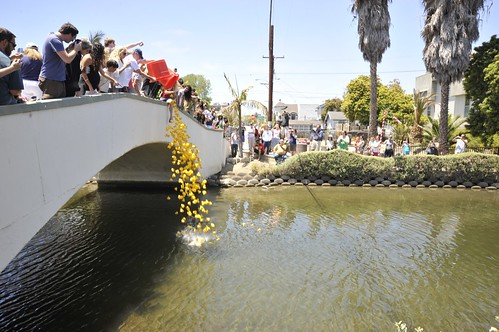Venice Canals 4th of July Boat Parade Rubber Ducky Race
