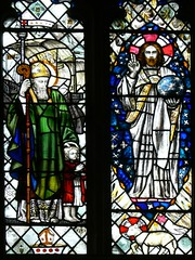 Detail east window - St. Nicholas. Willoughby