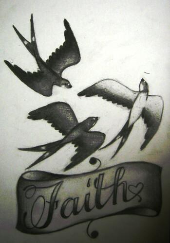 swallows faith tattoo design feedback