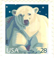 USA - Stamp 2009 polar bear 28 c
