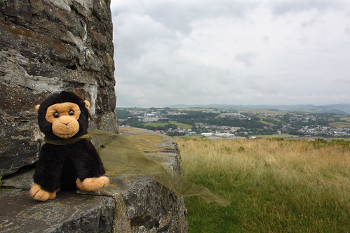 George on the top of Pen Dinas, Aberystwyth