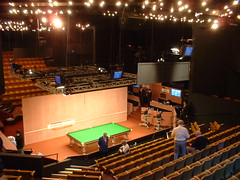 Inside the Crucible Theatre for the snooker... (ajburgess) Tags: world camera table championship tv theatre sheffield embassy forbidden inside behind cigarettes scenes snooker crucible crucibletheatre worldsnooker