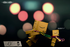 Jealousy is all the fun you think they had   *explored* (achew *Bokehmon*) Tags: pull chains bokeh sony flash tie wireless scared alpha jealousy jealous fansign carlzeiss a300 danbo danboard