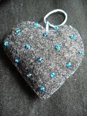 blue grey beads heart handmade lavender felt string sewn seedbeads lavenderbag dichohecho