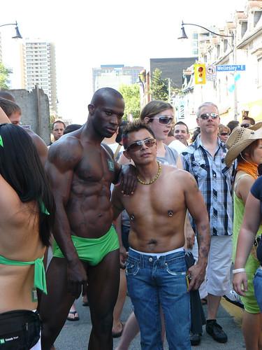 black shirtless Gay
