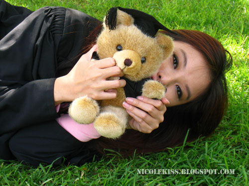 me and graduation teddy bear