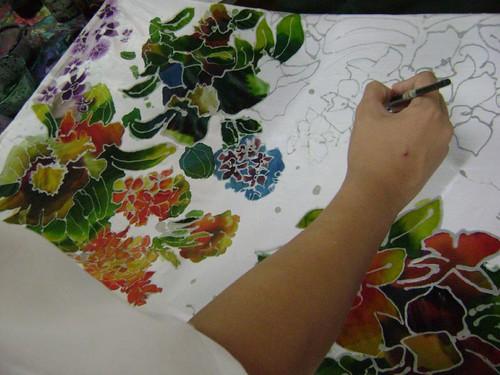 Designing batik