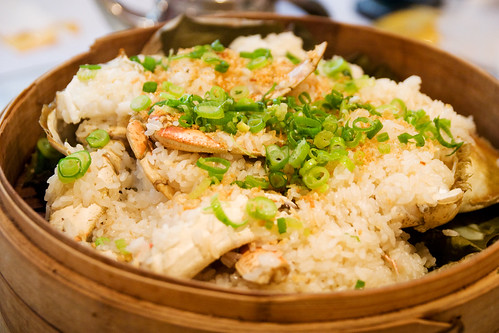 Dungeness crab with sticky rice