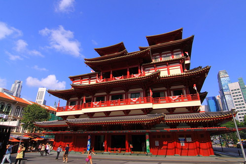 The Buddha Tooth Relic Temple (China Town Singapore)