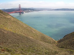 slide into the bay (rpastorelle) Tags: sanfrancisco bay goldengatebridge marinheadlands