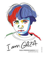 I am Gaza (freestylee) Tags: woman art poster march codepink gaza gfm michaelthompson palestineprotest gazafreedommarch