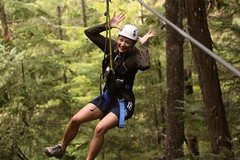 Anne in Whistler...Ziptrek by Ladycliff, on Flickr