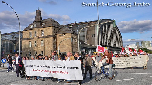 Demonstration gegen NPD in Hamburg St. Georg