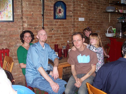 me, baldman, andy, ariel and erica at bliss in williamsburg