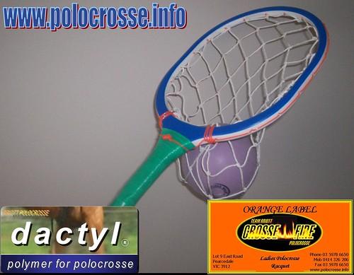 Pic 2 Ladies (Orange Label) Polymer Head  Polocrosse Racquet