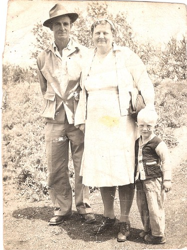 1945 Harold, Nellie, and Tim Maguire