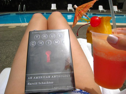 True Crime and an umbrella drink... aaah.